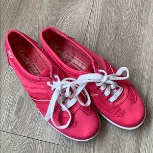 Keds Sneakers Hot Pink and White Size 6.5